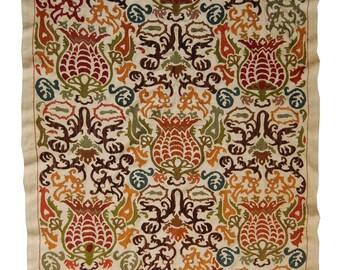 Uzbek silk handmade embroidery suzani Bukhara   SUZANI Cover Wall Hanging