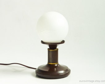 Vintage Bedside Lamp Small Bedside Light Ball Shade