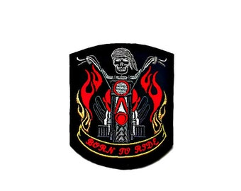 Biker's iron on patch