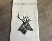 Bucky Deer Tea Towel - Kitchen - Houseware - Christmas - Gift - Reindeer - Holiday