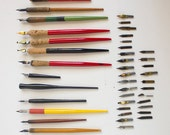 Vintage Pen Nibs LOT - For Calligraphy, lettering, and Drawing. Comes with Handles