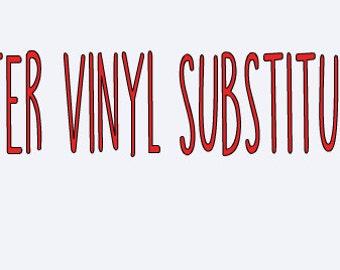 Glitter Vinyl Substitution