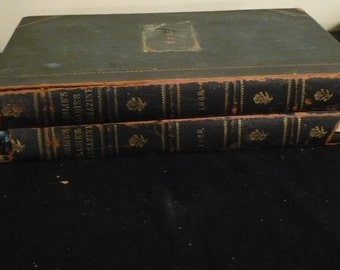 Leslie's Ladies Magazine, Set of 2 Hardbound Editions, 1868