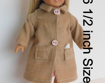 Clothes for Mini American Girl doll, Mini American Girl Clothes, Corduroy Coat for Mini American Girl, Clothes for OGM doll