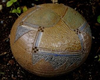 Large Textured Garden Sphere