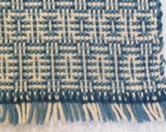 Vintage fiber art, Wool Hand Woven,  Table Topper, Wool  Wall Hanging,  Rug Fiber Art, wall art weaving,  table topper, wool lap rug,