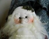 "Santa Doll ~ Papa Noel ~ 28"" Tall ~ Red, Green, White and Beige Santa"