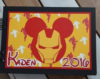 Personalized Disney Autograph Book Inspired by Iron Man