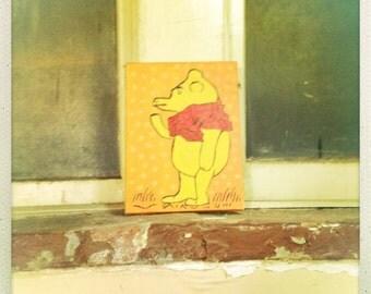 Bear Strange Folk Art Primitive Naive Found Art Photograph Print