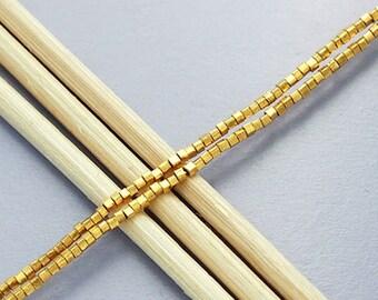 180 of Karen hill tribe 24k Gold Vermeil Style Tiny Cube Beads 1 mm. :vm0060