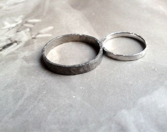 Fair wedding ring in palladium 500