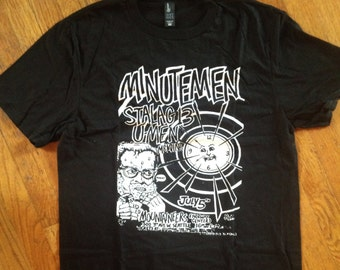 T-shirt of old punk show flier for Minutemen with Stalag 13, U-men and Melvins in Seattle.