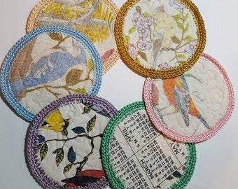 Upcycled Linen Calendar Coasters Pattern