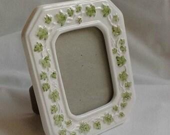 Vintage Ceramic Photo Frame with Ivy