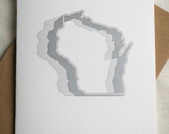 Wisconsin Cookie Cutter Letterpress Card