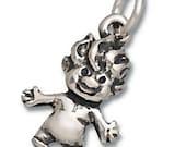 Troll Doll Charm Pendant Sterling Silver 925