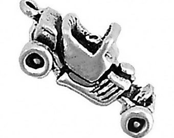 Car Charm Pendant Hot Rod 1920's Rat Rod T Bucket 3d Sterling Silver 925
