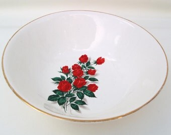 Vintage Serving Bowl, 22 Karat Gold China, Rose Bowl, Vegetable Bowl