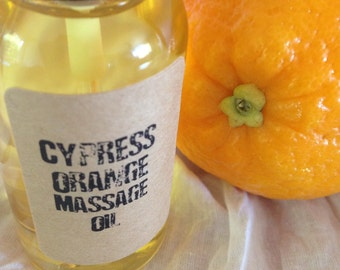 Cypress Orange Aromatherapy Massage Oil