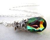 Dragonfly Necklace, Rainbow Crystal, Rainbow Necklace, Silver Dragonfly Necklace, Fairy Necklace, Crystal Necklace, Dragonfly Jewelry