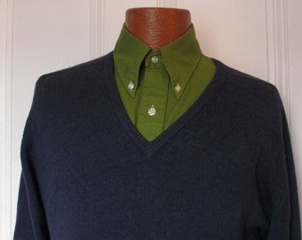 60's  Vintage Men's  Pringle Cashmere V Neck Sweater medium