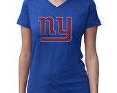 CHILD or ADULT SIZE  New York Giants Bling Crystal Rhinestone Shirt