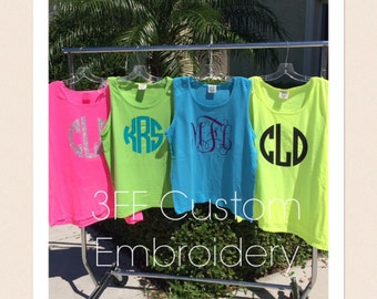 Personalized Monogrammed Unisex Comfort Colors Tank