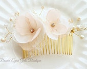 Swarovski Crystal Pearl Bridal Hair Comb, Pearl, Swarovski Crystal and Rhinestones Wired Bridal Hair Comb