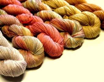 "Fine wool lace weight yarn or ""Smoothy""."