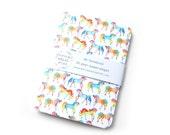 Rainbow Watercolour Unicorns A6 notebook, Journal, Jotter, Sketchbook