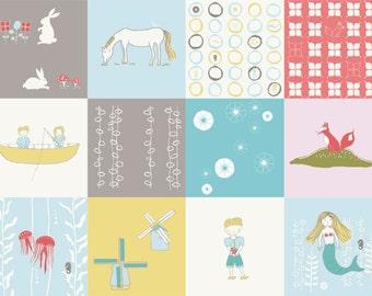 Birch fabric Storyboek Organic cotton fabric