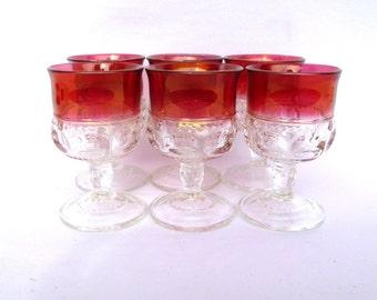 Vintage ROSE APERITIF/ Wine GOBLETS