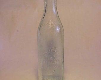 1925 Hampden Bottling Co. Northampton, Mass., Aqua 8 Ounce Soda Bottle