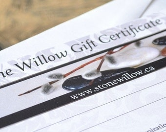 Gift Certificate, Stone Willow Jewellery, Online Gift Card, Gift Card