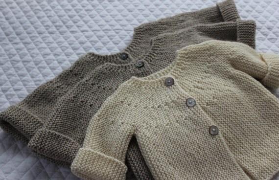 European Knitting Patterns : Bebeknits Modern European Baby Cardigan Knitting Pattern from bebeknits on Et...