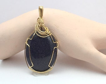 Wire Wrapped MoonStone Pendant in 14K Gold Filled Wire