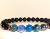 WEIGHT LOSS Bracelet, Spiritual Bracelet, Kyanite Bracelet, Apatite Bracelet, Matte Bracelet, Healing Bracelet, Weight Loss Crystals, REIKI