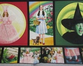 OOP VHTF Glinda, Wicked Witch, and Dorothy Wizard of Oz 24x44  fabric panel by Quilting Treasures - Only One