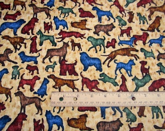 Its A Ruff Life Dog Multicolor  premium cotton fabric from Dan Morris for Quilting Treasures