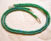 Matte Green Seed Bead Necklace for Multi Strand Interchangable Collection/ AB matte green/