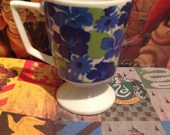 Footed Blue Grim Teacup Movie Prop from Harry Potter
