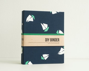 Binder Planner 6x8 (A5 sized) 2-Ring Folder with 2 FREE Refill Packs -  Yatch in Deep Blue Sea