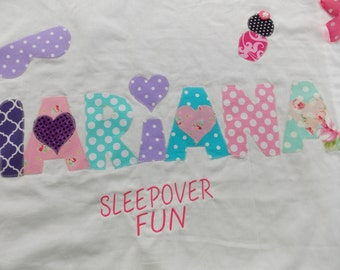 Personalized Pillowcases-Peace signs and Funky Letters  Slumber Parties Summer  Camp  Birthday Parties