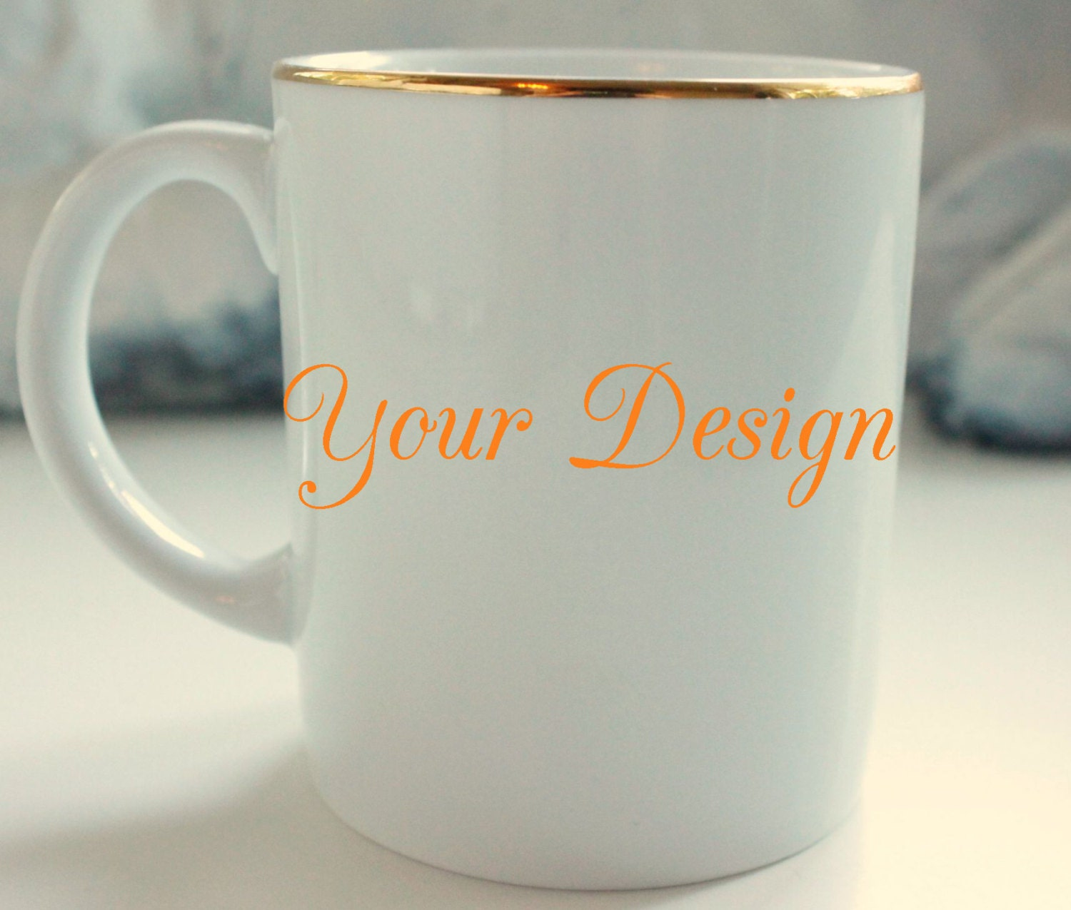 Gold Custom Tea Coffee Cup 8 Oz Personalized Cup Bespoke