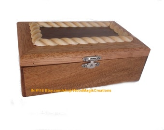 Jewelry Box with Wood Roping