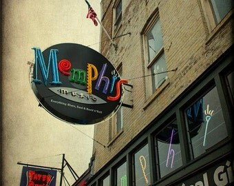 Memphis Beale Street Photography Neon Sign Photo Blues Cafe