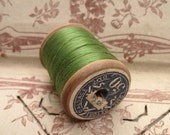 Vintage - Old french wooden bobbin from Dollfus Mieg & Cie collection