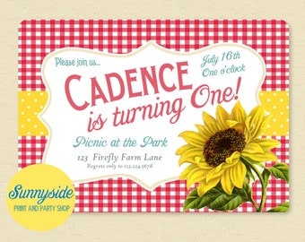 modern vintage invitations and party by sunnysideprintparty