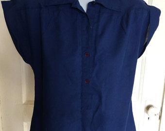 Sheer blue blouse S-M