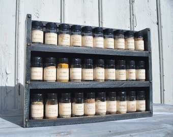 Spice Rack in 2 Tone Milk Paint Finish
